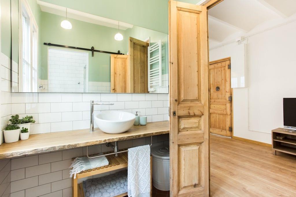 reforma de baño rústico