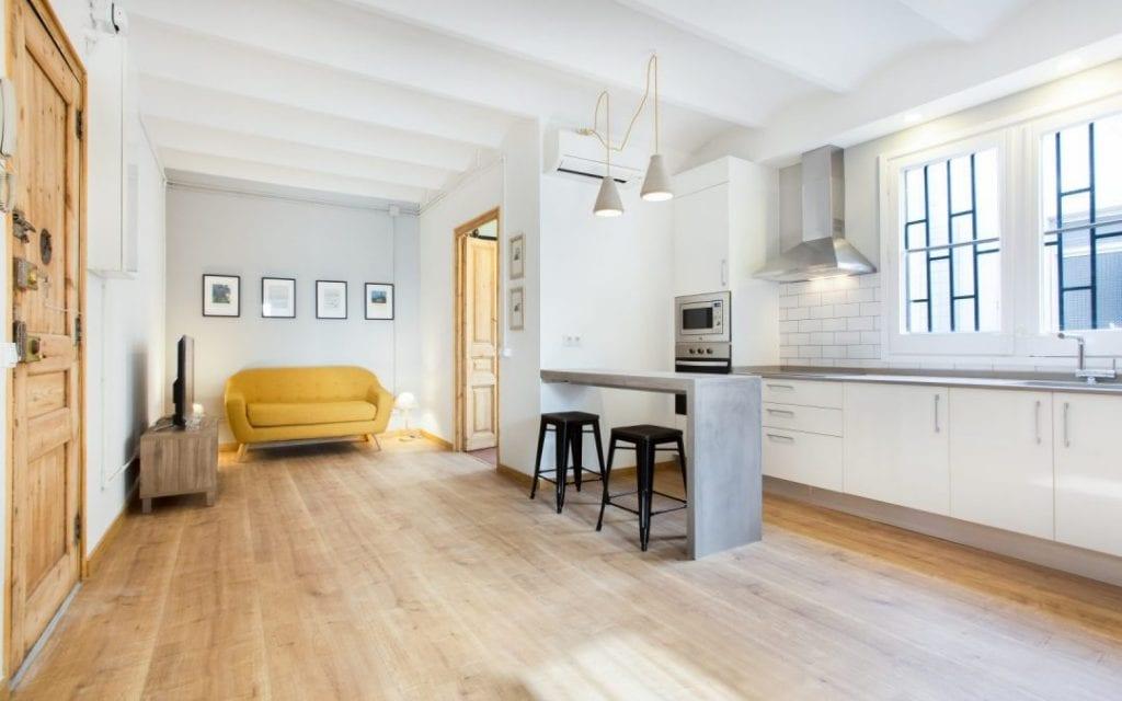 salón decoración minimalista