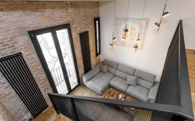 Reformas con paredes de ladrillo visto de estilo industrial y rústico